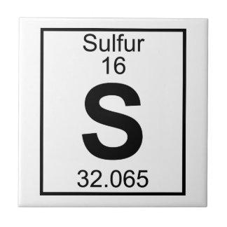 Elemento 016 - S - Azufre (lleno) Azulejo Cuadrado Pequeño