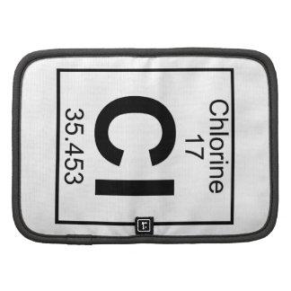 Elemento 017 - Cl - cloro (lleno) Organizador
