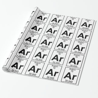 Elemento 018 - AR - Argón (lleno) Papel De Regalo