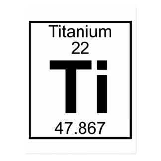 Elemento 022 - Ti - titanio (lleno) Postales