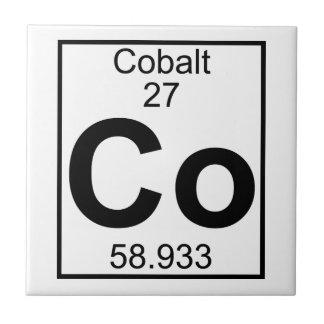 Elemento 027 - Co - Cobalto (lleno) Azulejo Cuadrado Pequeño