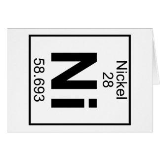 Elemento 028 - Ni - Níquel (lleno) Tarjeta De Felicitación