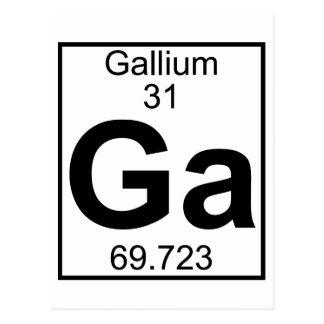 Elemento 031 - GA - Galio (lleno) Postal