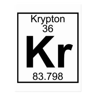 Elemento 036 - Kr - Criptón (lleno) Tarjeta Postal
