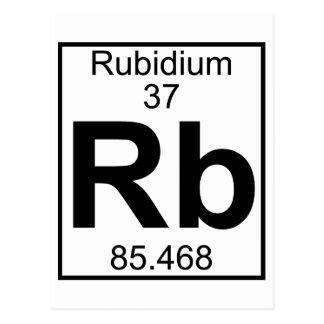 Elemento 037 - Rb - rubidio (lleno) Tarjetas Postales