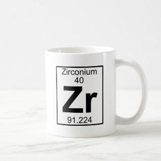 Elemento 040 - Zr - circonio (lleno) Taza De Café