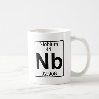 Elemento 041 - NOTA - Niobio (lleno) Taza