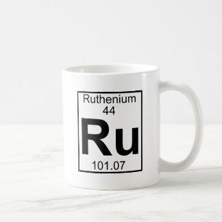 Elemento 044 - Ru - Rutenio (lleno) Taza