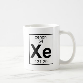 Elemento 054 - Xe - xenón (lleno) Tazas De Café