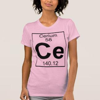 Elemento 058 - Ce - cerio (lleno) Playera