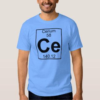 Elemento 058 - Ce - cerio (lleno) Poleras