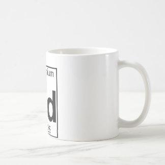 Elemento 064 - Gd - gadolinio (lleno) Taza Básica Blanca