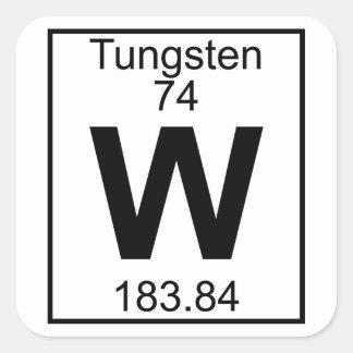 Elemento 074 - W - Tungsteno (lleno) Pegatina Cuadrada