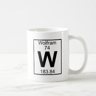 Elemento 074 - W - Volframio (lleno) Taza Básica Blanca