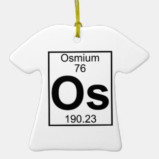 Elemento 076 - OS - Osmio (lleno) Adorno De Navidad