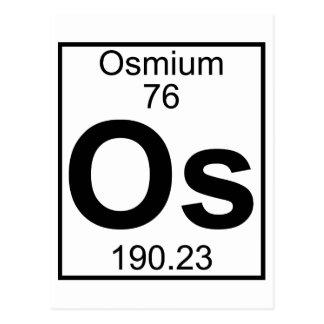 Elemento 076 - OS - Osmio (lleno) Tarjeta Postal