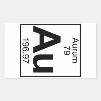 Elemento 079 - Au - Aurum (lleno) Pegatina Rectangular