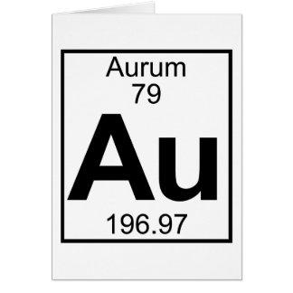 Elemento 079 - Au - Aurum (lleno) Tarjeta De Felicitación