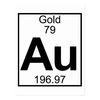 Elemento 079 - Au - oro (lleno) Postales