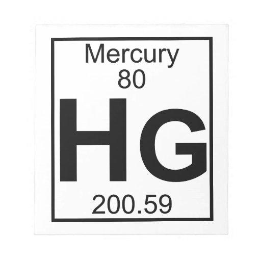Elemento 080 - Hectogramos - Mercury (lleno) Bloc De Notas