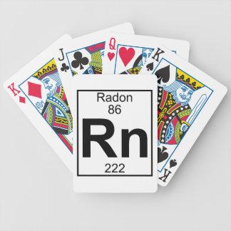 Elemento 086 - Rn - Radón (lleno) Cartas De Juego