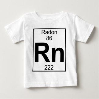 Elemento 086 - Rn - Radón (lleno) Playera Para Bebé