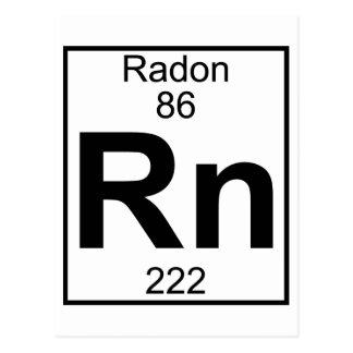 Elemento 086 - Rn - Radón (lleno) Postales