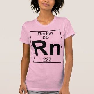 Elemento 086 - Rn - Radón (lleno) Remeras