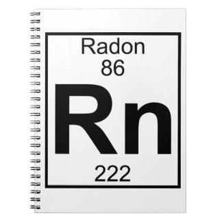 Elemento 086 - Rn - Radón (lleno) Spiral Notebook