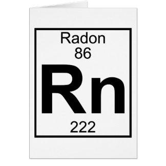 Elemento 086 - Rn - Radón (lleno) Tarjeta De Felicitación