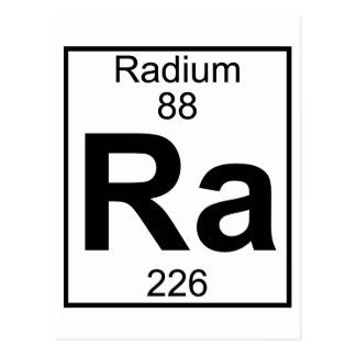 Elemento 088 - Ra - radio (lleno) Postal