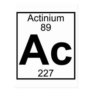 Elemento 089 - CA - Actinio (lleno) Postales
