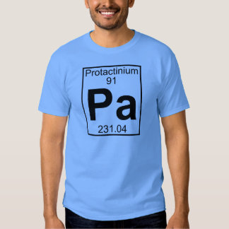 Elemento 091 - PA - Protactinium (lleno) Playeras
