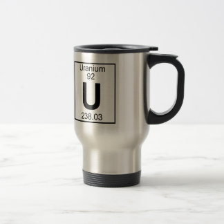 Elemento 092 - U - Uranio (lleno) Tazas De Café