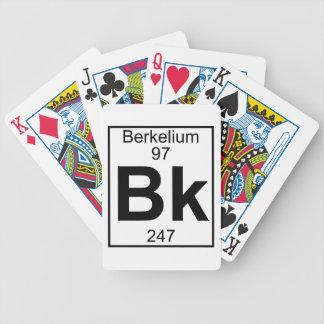 Elemento 097 - Bk - berkelio (lleno) Barajas De Cartas