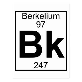 Elemento 097 - Bk - berkelio (lleno) Postales