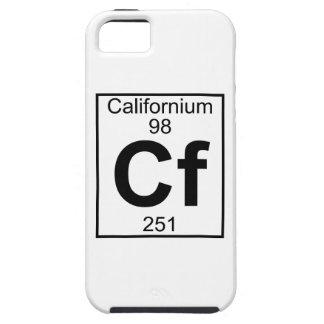 Elemento 098 - Cf - californio (lleno) iPhone 5 Case-Mate Cárcasa