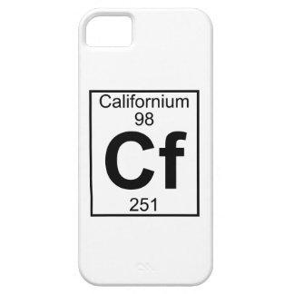 Elemento 098 - Cf - californio (lleno) iPhone 5 Carcasas