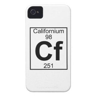 Elemento 098 - Cf - californio (lleno) iPhone 4 Case-Mate Cárcasas