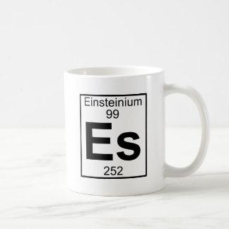 Elemento 099 - Es - Einsteinio (lleno) Taza Básica Blanca