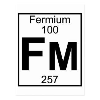 Elemento 100 - Fm - fermio (lleno) Tarjetas Postales