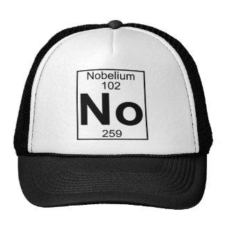 Elemento 102 - Ningún - nobelio (lleno) Gorras