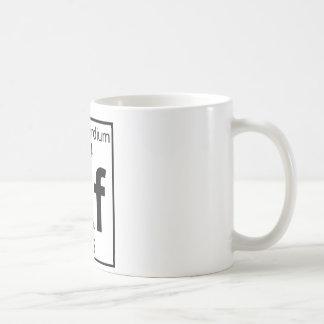 Elemento 104 - Rf - Rutherfordium (lleno) Taza De Café