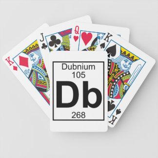 Elemento 105 - DB - Dubnium (lleno) Baraja De Cartas Bicycle