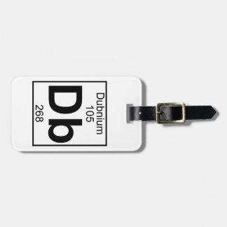 Elemento 105 - DB - Dubnium (lleno) Etiquetas Para Maletas