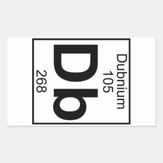 Elemento 105 - DB - Dubnium (lleno) Pegatina Rectangular