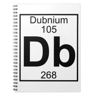 Elemento 105 - DB - Dubnium (lleno) Spiral Notebooks
