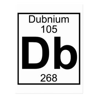 Elemento 105 - DB - Dubnium (lleno) Tarjeta Postal
