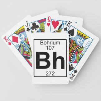 Elemento 107 - BH - Bohrium (lleno) Barajas De Cartas
