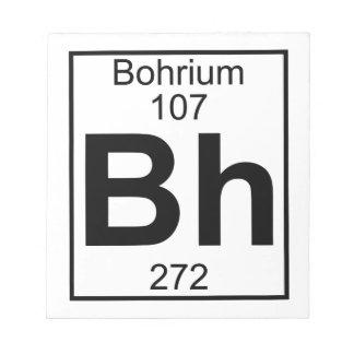 Elemento 107 - BH - Bohrium (lleno) Bloc